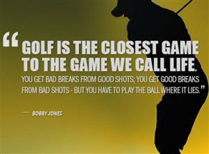 Golf Life Quote