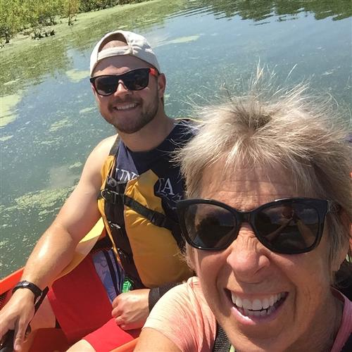 Mr. Pyle kayaking with his Aunt